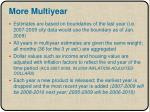 more multiyear