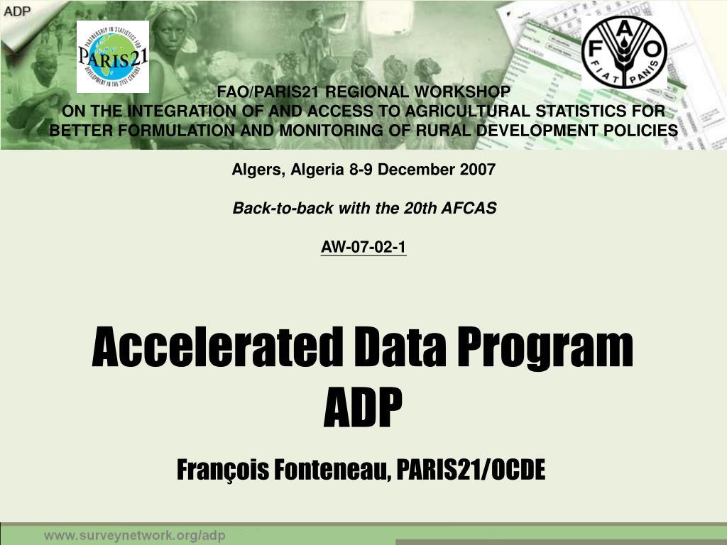 accelerated data program adp l.