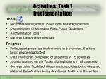 activities task 1 implementation