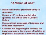 a vision of god