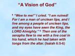 a vision of god14