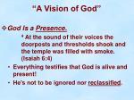 a vision of god26