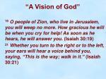 a vision of god28