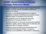 gsrm governments of canada strategic reference model