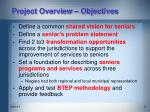 project overview objectives
