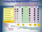 putting next steps in btep context