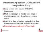 understanding society uk household longitudinal study