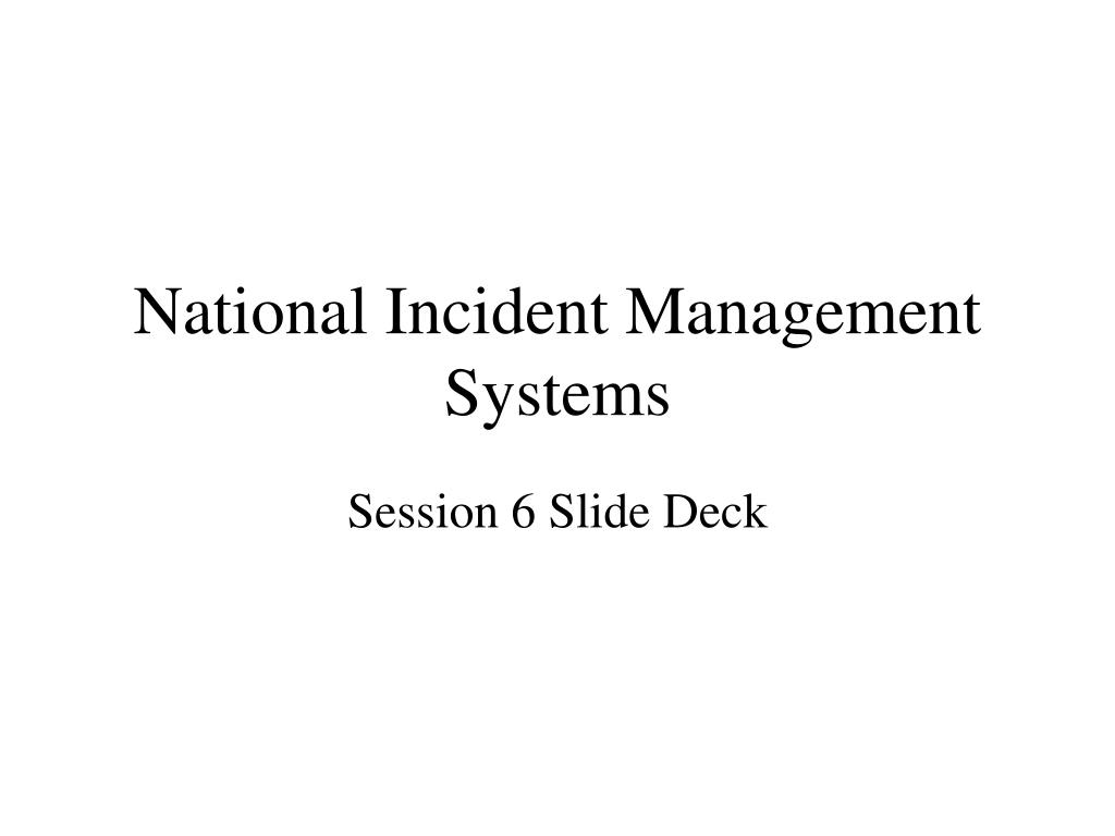 national incident management systems l.