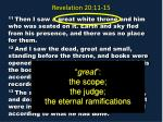 revelation 20 11 1513