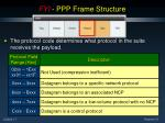 fyi ppp frame structure