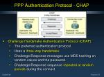 ppp authentication protocol chap