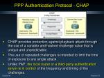 ppp authentication protocol chap39