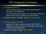 ppp configuration commands30