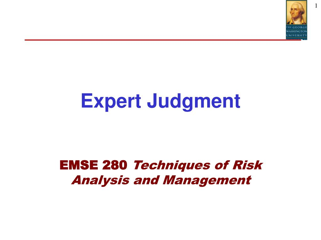 expert judgment l.