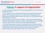policies in support of cogeneration