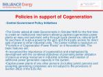 policies in support of cogeneration59