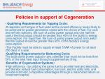 policies in support of cogeneration61