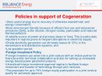 policies in support of cogeneration62