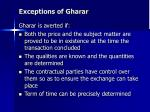 exceptions of gharar15