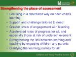 strengthening the place of assessment