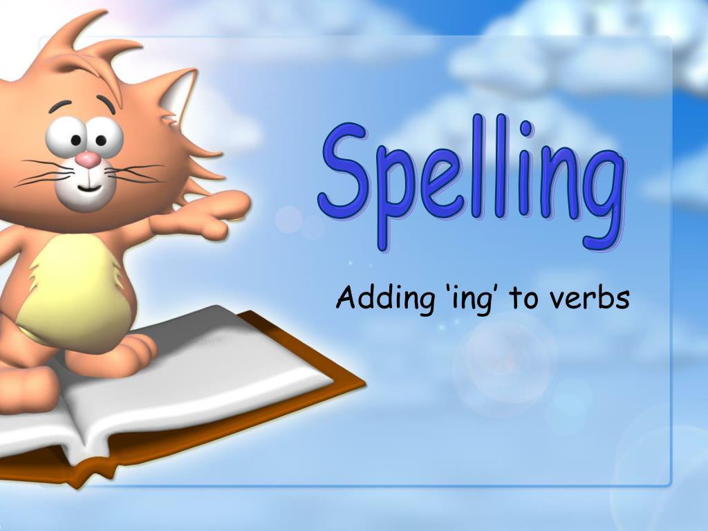 adding ing to verbs l.