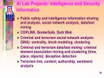 ai lab projects intelligence and security informatics