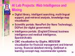 ai lab projects web intelligence and mining