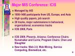 major mis conference icis