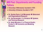 mis past departments and founding fathers