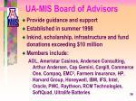 ua mis board of advisors