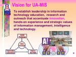 vision for ua mis