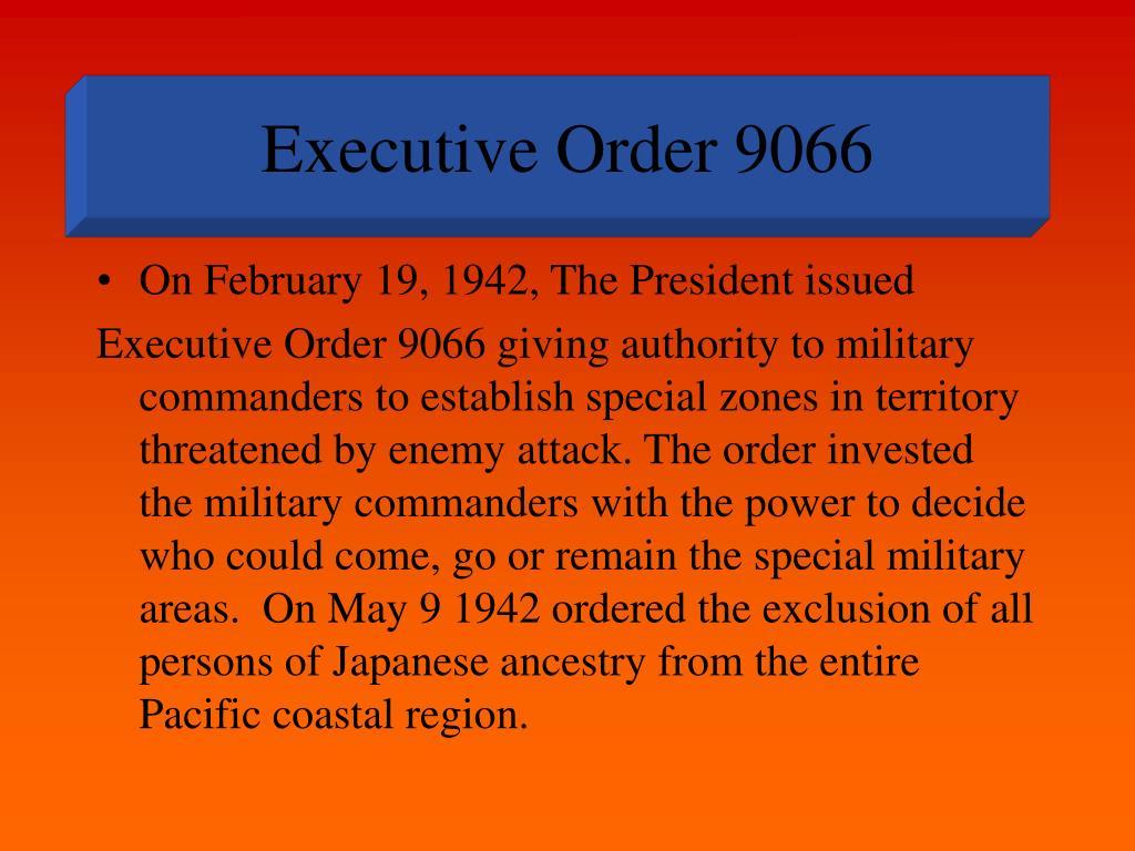 executive order 9066 l.