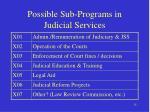 possible sub programs in judicial services