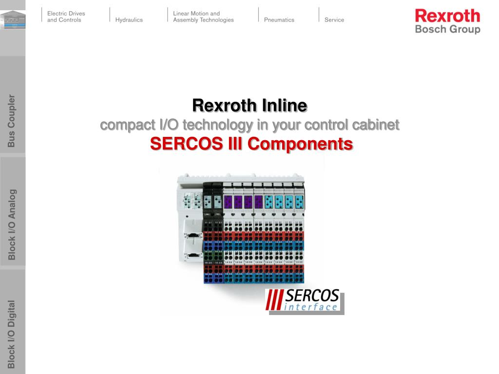 rexroth inline compact i o technology in your control cabinet sercos iii components l.