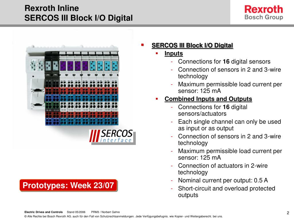 PPT - Rexroth Inline compact I/O technology in your control cabinet