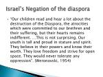 israel s negation of the diaspora