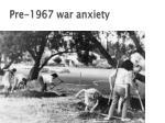 pre 1967 war anxiety