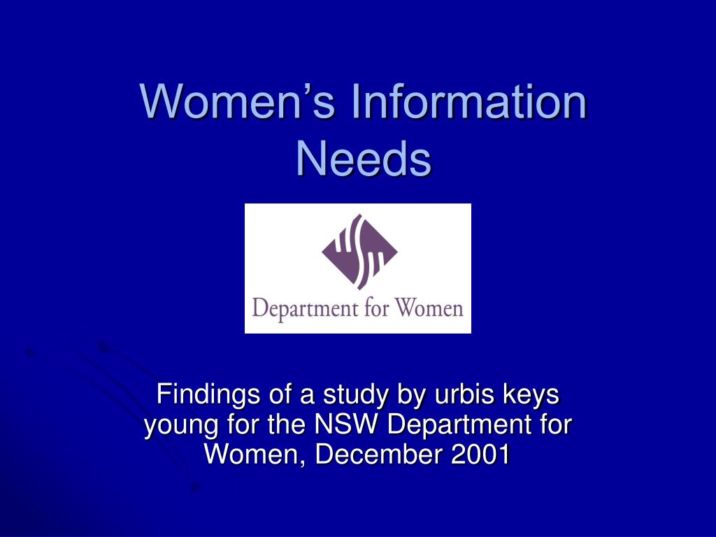 women s information needs l.