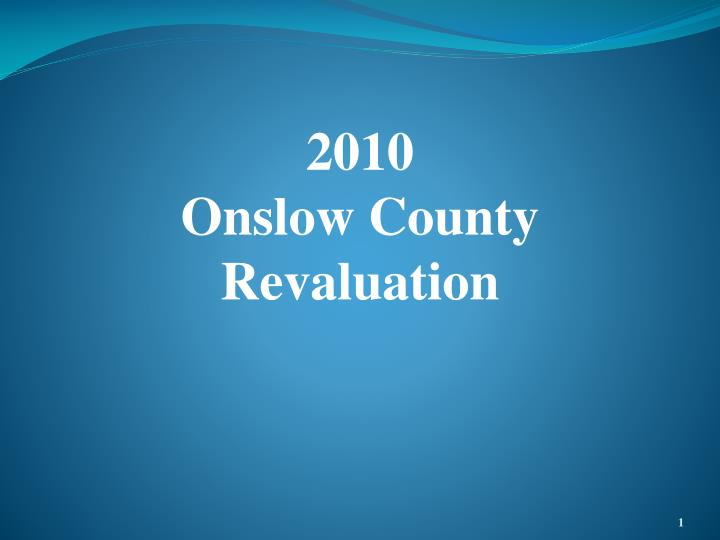 2010 onslow county revaluation