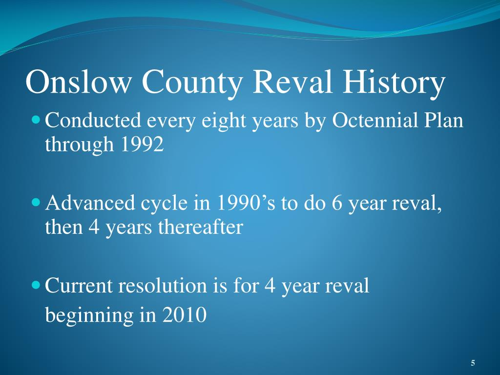 Onslow County Reval History