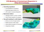 cfd modeling of contaminant dispersion in urban environments