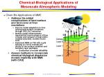 chemical biological applications of mesoscale atmospheric modeling