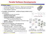 parallel software developments