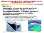 portfolio electromagnetic signature modeling in the synthetic battlefield