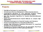portfolio enabling technology and computational algorithms29