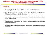 portfolio virtual computing environment for future combat systems17