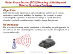 radar cross section rcs modeling of multilayered material structures coatings