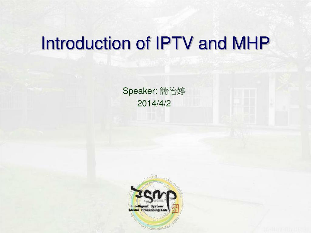 introduction of iptv and mhp l.
