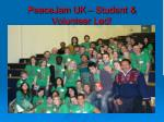 peacejam uk student volunteer led