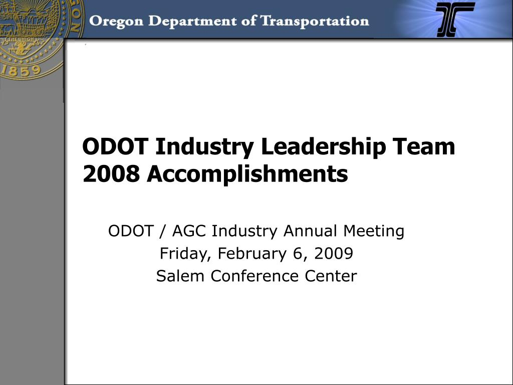odot industry leadership team 2008 accomplishments l.